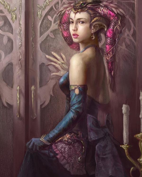 Glamorous Digital Paintings Featuring Hinshins
