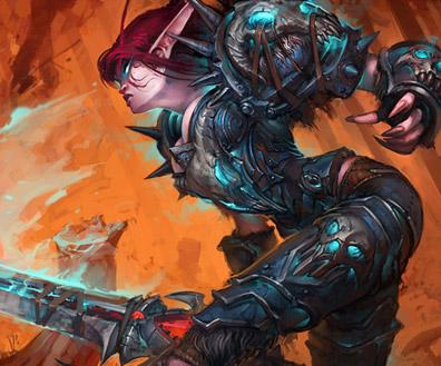 Warcraft Trading Card Art Featuring Luke Mancini