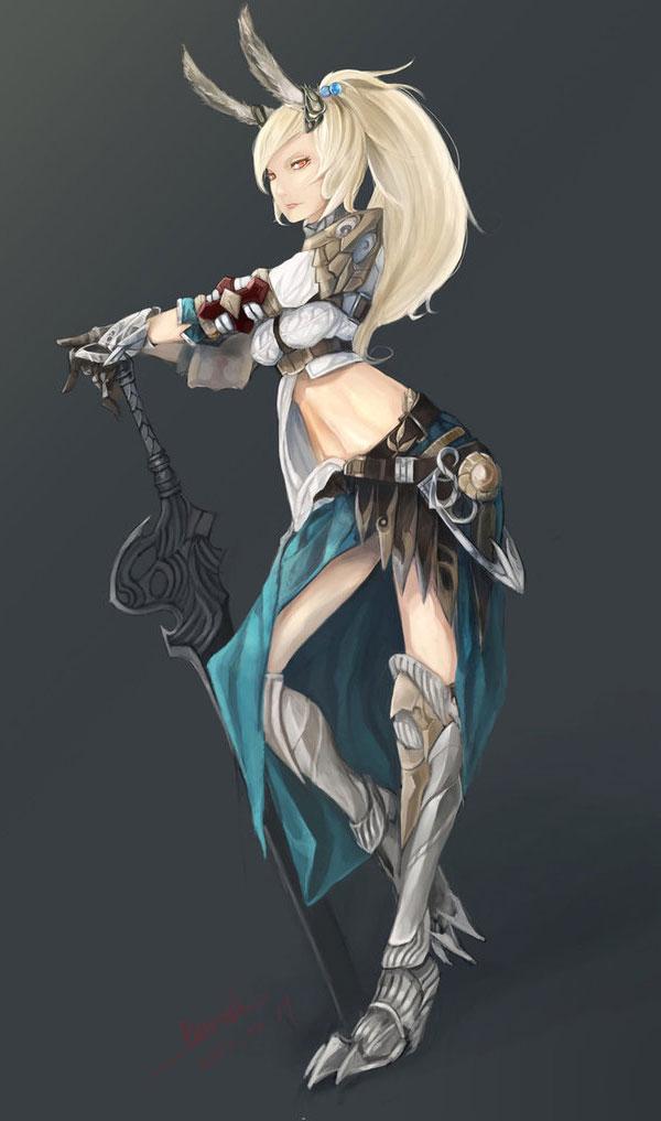 Elven Fantasy Art Featuring Illustrator bamuth