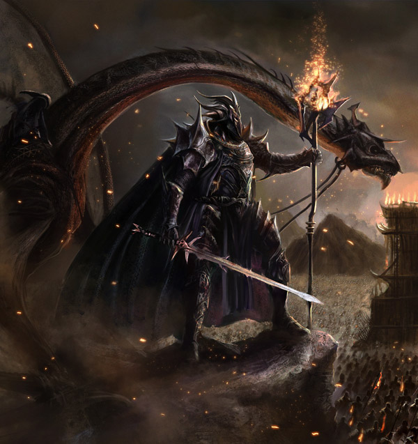 Dragons, Warriors & Sorcerer Fantasy Art Featuring eronzki999