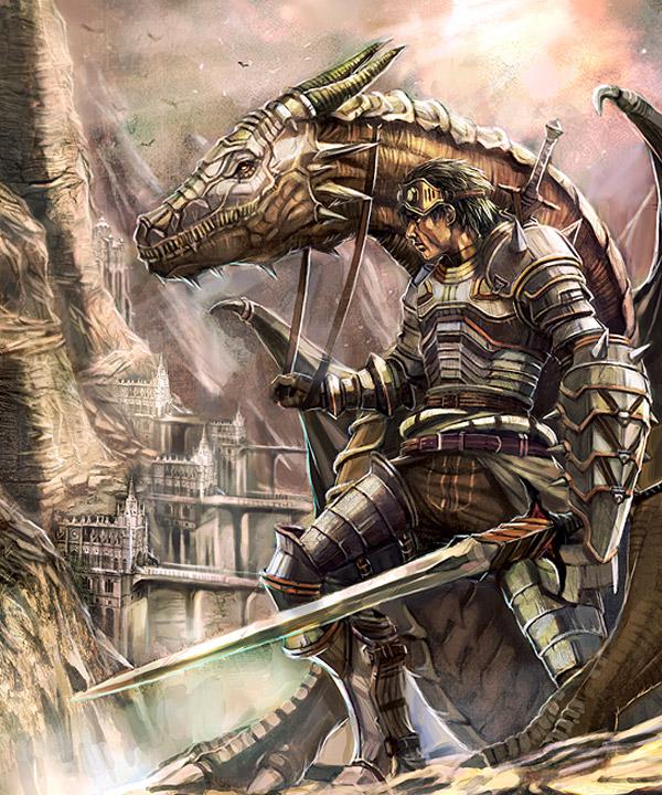 Fantasy Knight Art Final fantasy inspired art