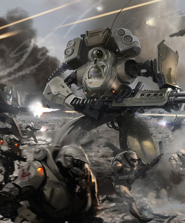 Exceptionally Detailed Mobile Armoured Units & Mecha Sci-fi Art