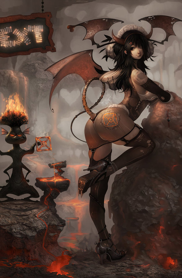 Dark & Sexy Fantasy Art Featuring trejoeeee