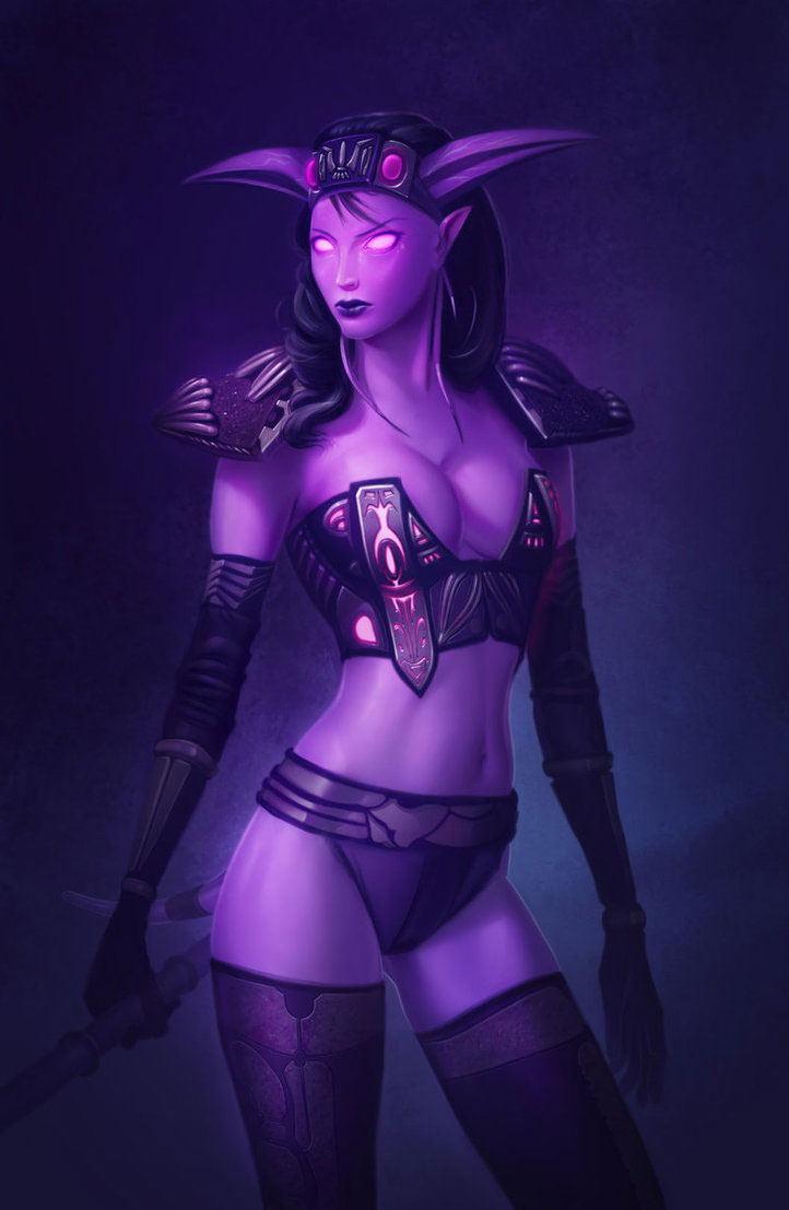 Sexy Fantasy Illustrations Featuring 2D Artist Andrew Hibner