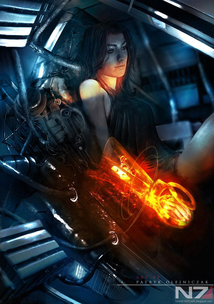 Mass Effect 3 Fan Art Featuring Patryk 'Garrett' Olejniczak