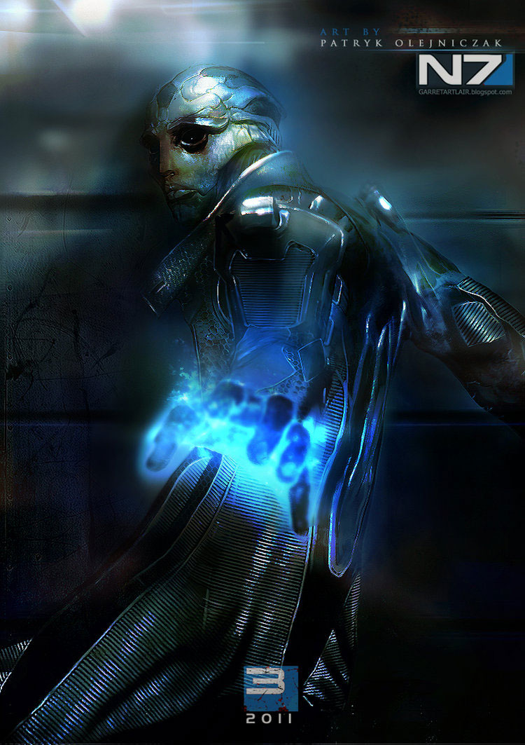 Mass Effect 3 Fan Art Featuring Patryk 'Garrett' Olejniczak