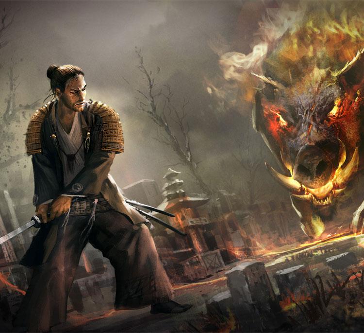 Samurai's, Dragons & Beautiful Environments By Mateusz Ozminski