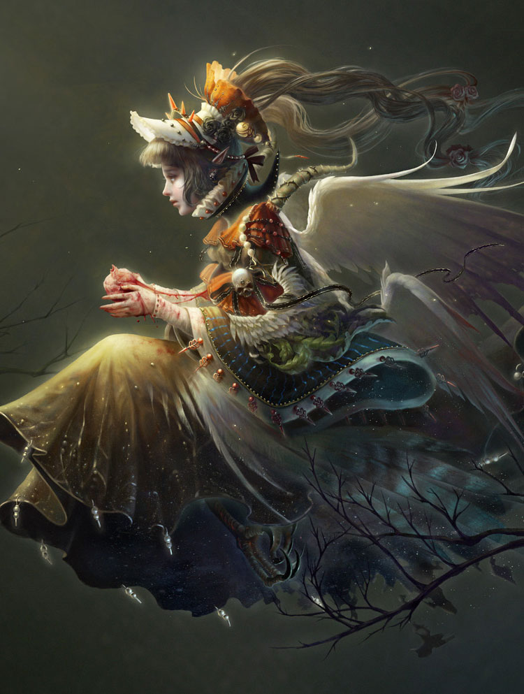 Gorgeous Oriental Styled Fantasy Art Featuring Illustrator Xueyinye