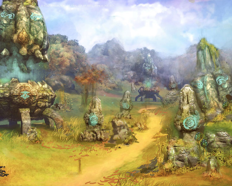 Beautiful Tera Environment Concept Art & Character Design