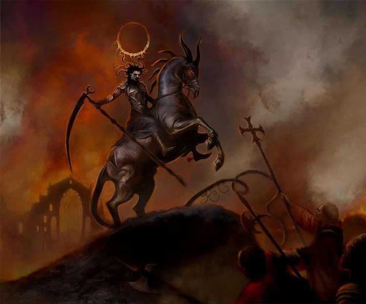 Dark & Life Like Fantasy Art Featuring Caelicorn