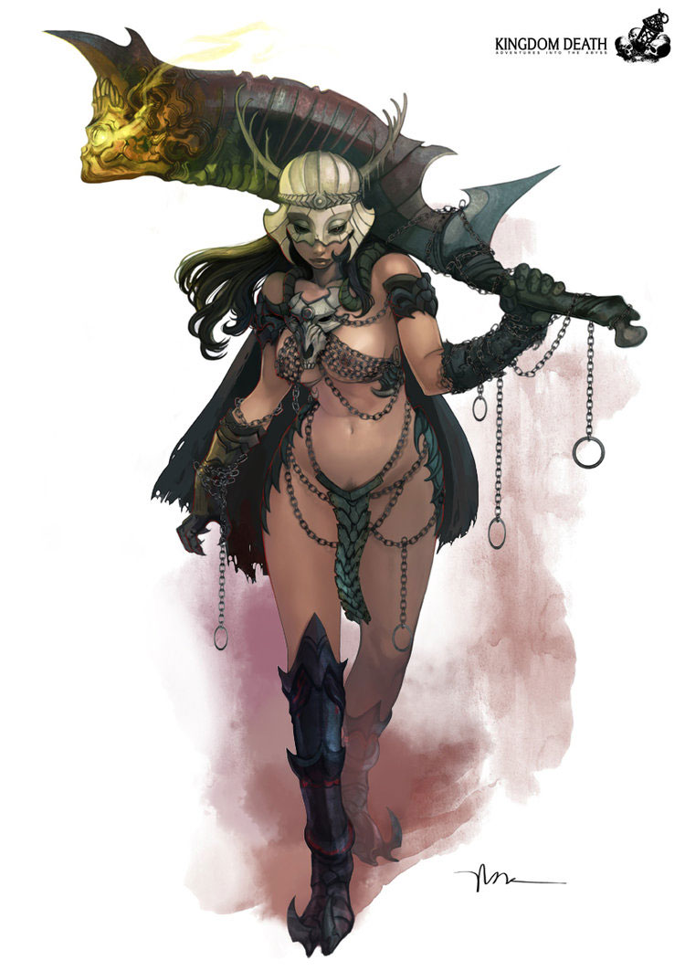 Kingdom Death Character Pin-ups Featuring Lokman Lam