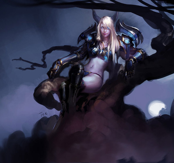 Fantasy Art & Character Designs Featuring akizhao