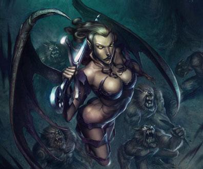 Fantasy Art Featuring Blackvolta Studio artist Ossandon