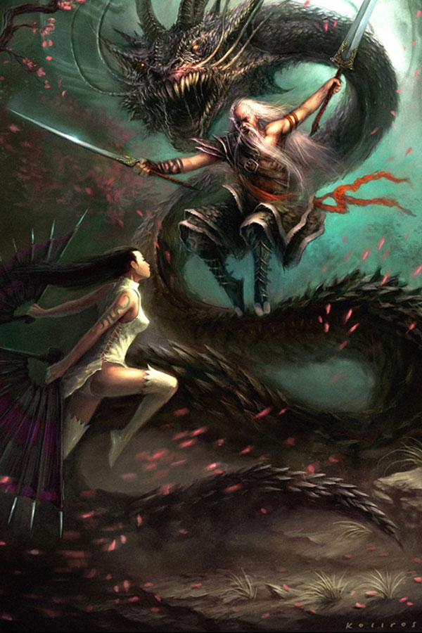 Wyrm-hunters & Dark Mistresses featuring Artist guterrez